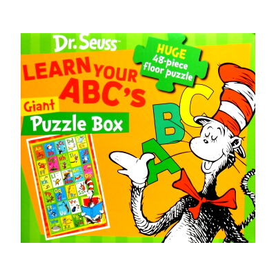 Dr.Seuss LEARN YOUR ABC's Giant Puzzle Box(ドクタースース、ビックジグゾーパズル)