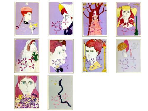 1970年代・講談社版「赤毛のアン」1巻―10巻全巻揃い/モンゴメリー・作、村岡花子・訳、鈴木義治・装本、挿画