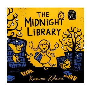 【新品アウトレット洋書絵本】Kazuno Kohara(カズノ・コハラ)「The Midnight Library」(よるのとしょかん)はかわいい版画絵本