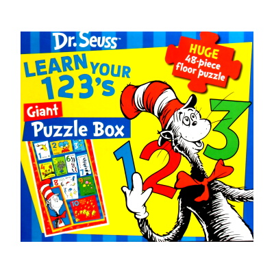 Dr.Seuss LEARN YOUR 123's Giant Puzzle Box(ドクタースース、特大ジグゾーパズル)